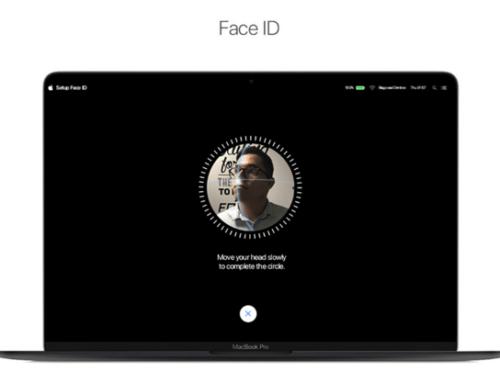 蘋果新Face ID專利通過,連MacBook都能臉部解鎖